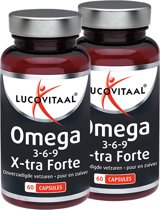 Lucovitaal - Omega 3-6-9 X-tra Forte - 2x 60 Capsules (duoverpakking) - Visolie - Voedingssupplementen