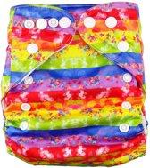 Wasbare pocketluier -  Gekleurde strepen