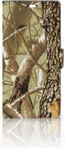 Sony Xperia C5 Ultra Uniek Boekhoesje Camouflage Met Opbergvakjes