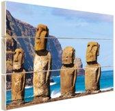 Paaseiland stille oceaan Hout 30x20 cm - Foto print op Hout (Wanddecoratie)
