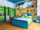 Fotobehang Disney, Winnie De Poeh | Groen | 208x146cm