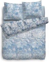 Heckett Lane Monica Dekbedovertrek - Eenpersoons - 140x200 + 70x90 cm - Blauw