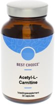 Best Choice Acetyl - L - Carnitine 500 mg Capsules - Voedingssupplement