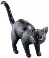 Zwarte kat decoratie van rubber