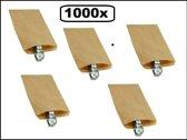 1000x Papieren zak kraft 10x16cm 40 gram bruin