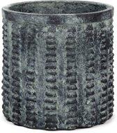 Serax Bloempot Zwart-Grijs L 15 cm D 15 cm H 15 cm