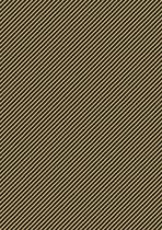 Inpakpapier met diagonaal zwarte strepen K401943-2 - Toonbankrol breedte 30 cm - 100m lang - K401943-2-30-100Mtr