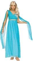 Blauw godin kostuum voor vrouwen