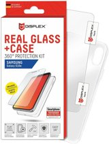 Displex 2D Real Glass + Case Samsung Galaxy S10E 360° Protection Kit