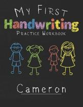 My first Handwriting Practice Workbook Cameron