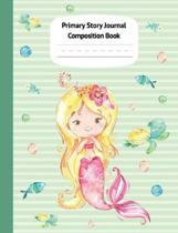 Mermaid Kaia Primary Story Journal Composition Book