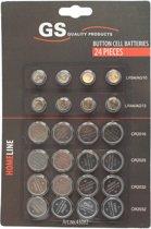 Knoopcel / horloge batterij - 24-delige set - STUNTAANBIEDING