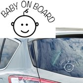 Baby on board - autosticker, baby aan boord autosticker