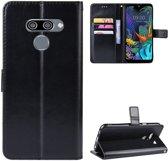 LG Q60 Bookcase Hoesje Met Pasjes Zwart