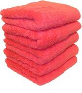 5 Luxe badhanddoeken - 500GSM - Long fiber - roze