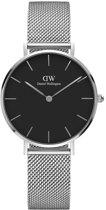 Daniel Wellington Petite Sterling Black DW00100162 - Horloge - Staal - Zilver - Ø 32 mm
