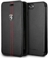 Ferrari Book case voor Apple iPhone 7-8 Plus - Zwart