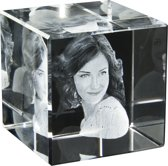 3D Foto in glas. Model Kubus staand Afm: 60 x 60 x 60 mm