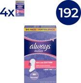 Always Twist & Flex Large - Voordeelverpakking Parfumvrij 232 Stuks - Inlegkruisjes
