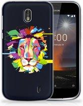Nokia 1 Uniek TPU Hoesje Lion Color