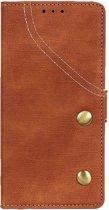 Shop4 - Samsung Galaxy A50 Hoesje - Wallet Case Vintage Bruin