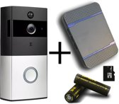 OPTIBLE | Deurbel met camera|NL Handleiding |Hoge resolutie |1080P|Gratis gong en oplaadbare batterijen |Wifi deurbel |Nachtzicht|Waterdicht