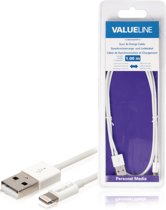 Valueline 1m USB2.0 A mobiele telefoonkabel USB A Lightning Wit