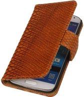 Samsung Galaxy Core II Hoesje Slang Bookstyle Bruin