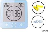 Merk BALDR - digitale 4 in 1 douchetimer- Tempratuur meter- vochtigheid meter – tandenpoetsen – water dicht – timer – countdown – doucheklok – douche wekker