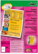 kleurenlaser/kopieerpapier Sigel A4 superwit 160gr 200 vel