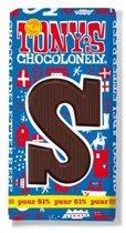 Tony's Chocolonely Letterreep S - Puur - 180 gram