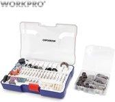 Workpro 295-delige box dremel-opzetstukken   In mooie opbergbox