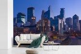 Fotobehang vinyl - De skyline van het Amerikaanse Minneapolis breedte 540 cm x hoogte 360 cm - Foto print op behang (in 7 formaten beschikbaar)