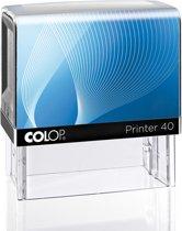Colop Stempel 40 Zwart | Stempel laten maken | Stempels bestellen met logo en tekst | Afdrukformaat 25 x 59 mm