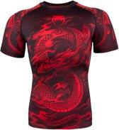 Venum Dragon's Flight Rashguard - Short Sleeves - Red-XL
