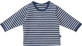 Minymo - newborn shirt - Grow organic - blauw wit