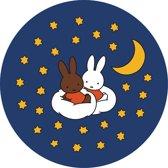 Kreisy Nijntje Sleep - Speelmat Pluche Nacht - Wasbaar - Antislip - 60x60 cm - Rond