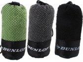 Microvezel handdoeken 3x met tasje | groen, grijs, zwart |  80x40cm | sneldrogend | sport handdoek | microvezeldoek | Fitness | reis | sporthanddoek