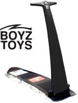 Boyz Toys - Opvouwbare sneeuwstep - Kinder snowboard met stuurstang - Sneeuwscooter - Zwart