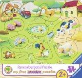Ravensburger houten puzzel Kleine boerderij - 9 stukjes