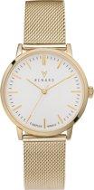 Renard Elite White Gold Mesh RA361YG02MSYG - Horloge - Staal - Goud - Ø 35.5 mm