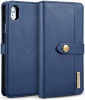 Apple iPhone XR Leren 2-in-1 Bookcase en Back Cover Hoesje Blauw