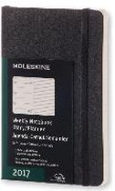 Moleskine Agenda 2017 12 Months Planner Weekly Notebook Pocket Black Soft Cover