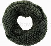 Sjaal 'Loop' - Groen - SJ02P - 75x23 cm