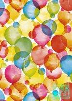 Ballon: wit kraftpapier K501660/1 Cadeaupapier - Toonbankrol breedte 30 cm