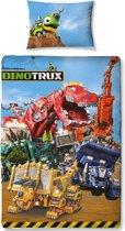Dinotrux Mechanix - Dekbedovertrek - Eenpersoons - 140 x 200 cm - Multi