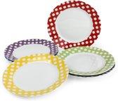 Yong Dessertbord - Ø 19.5 cm - Set van 6 - Porselein - Wit