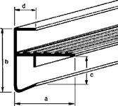 Roval Dakrandprofiel aluminium 35 x 45/35mm