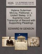 Helena Guterman McCoy, Petitioner, V. United States. U.S. Supreme Court Transcript of Record with Supporting Pleadings