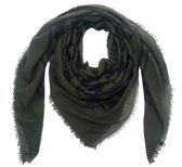 thumbnail Donker groene sjaal met zwarte sterren